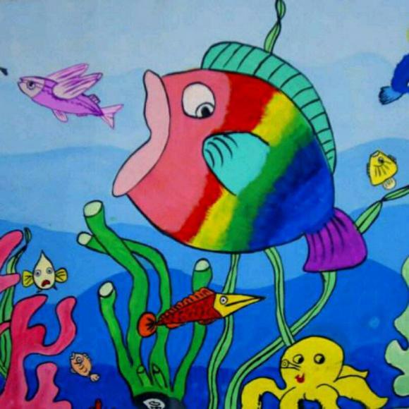 第30期合田中心幼儿园睡前故事《大鱼和小鱼》图片