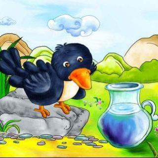 乌鸦喝水图片