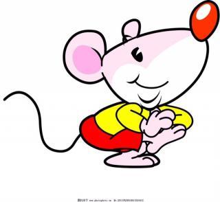 小老鼠和大彩笔图片