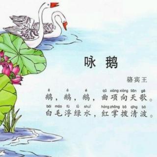 唐诗《咏鹅》,《登鹳雀楼》――选自唱歌识字作业本.