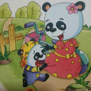 熊猫可爱儿童画