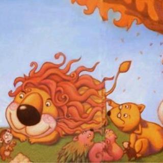 狮子烫头发图片