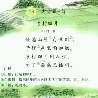 【一起讀古詩】鄉村四月(宋·翁卷)圖片