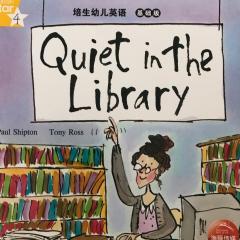 宝宝读Quiet in the library