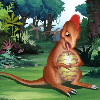 会发光的小狮子 37-恐龙世界之偷蛋龙图片