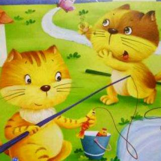 《红果果幼儿园联科分园》晚安故事《小猫钓鱼》
