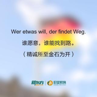 励志德语—精诚所至金石为开