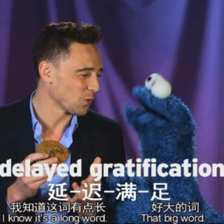 汤抖森与饼干怪-delayed gratification