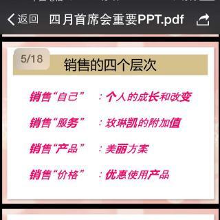 4.2连莹首席 如何把VIP升级成美容顾问 销售4层次