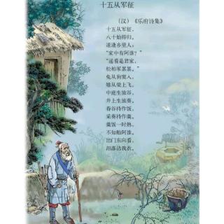 〔蘅宝读诗词〕11、十五从军征--汉乐府