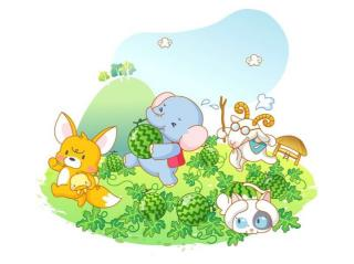 小狐狸和大象偷西瓜