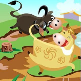 73、【民间故事】水牛和黄牛