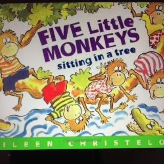 英文故事之五只猴子坐在树上
