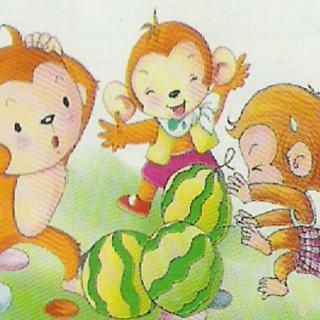 猴吃西瓜 寓言故事(以往作品:大一)