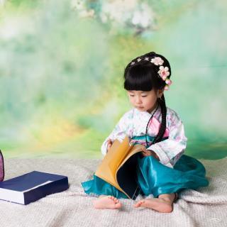 马子淳跟读《孝经》开宗明义章第一