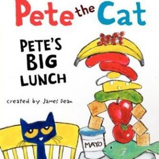 经典绘本Pete the cat, Pete's big lunch