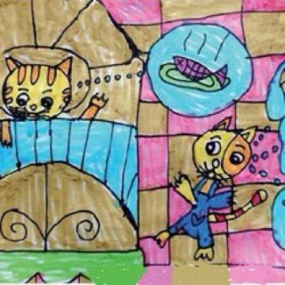 大地园长妈妈睡前故事209《小猫智斗狐狸》