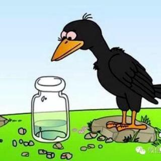 儿童故事《乌鸦喝水》