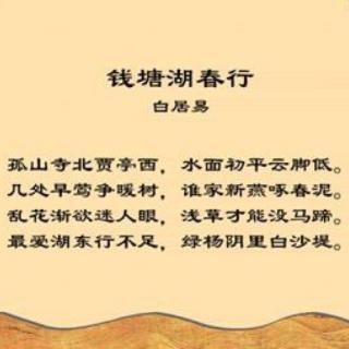玮圻读唐诗 《钱塘湖春行》 唐 · 白居易