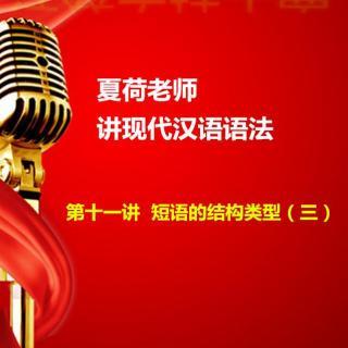 夏荷老师讲现代汉语语法——第十一讲  短语的结构类型(三)
