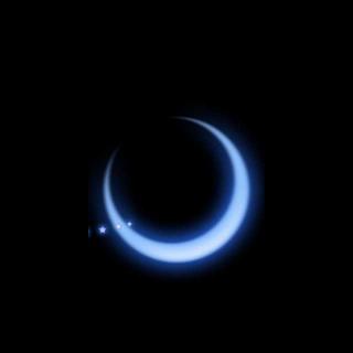 银白色的月光