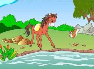 儿童睡前故事—小马过河