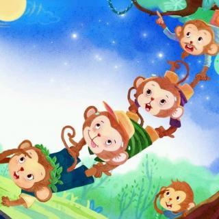 《猴子捞月》的故事