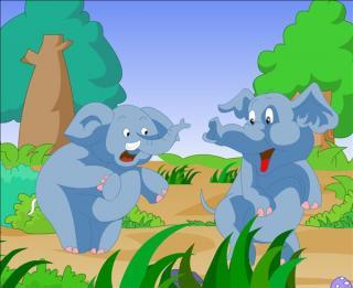 儿童睡前故事—艾迪找不到大象