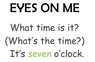 Unit 3 What time is it?重点句型部分。