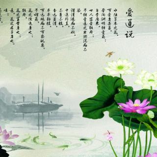 紫芸樱:《爱莲说》-周敦颐