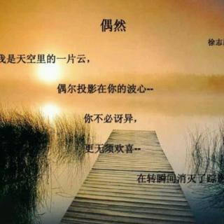 《偶然》 作者:徐志摩