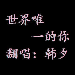 韩夕翻唱:世界唯一的你 超感动