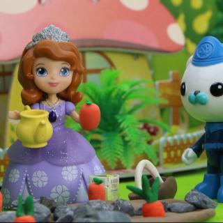 玩具小镇举办蔬菜大王比赛,苏菲亚小公主学会了拔苗助长的道理