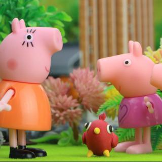 春天来了,花开了草绿了,小猪和朋友们一起学起了布谷鸟叫