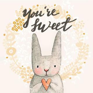 小兔子,你都萌得开花啦~