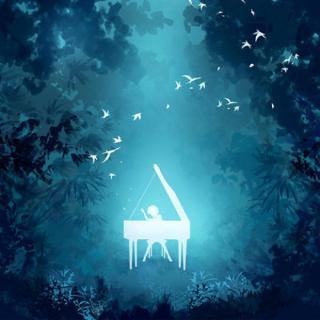 钢琴曲+鸟鸣声 让心静下来吧