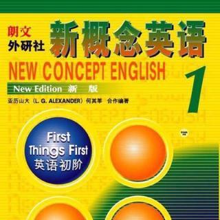 新概念英语第一册精华第1课-Excuse me!