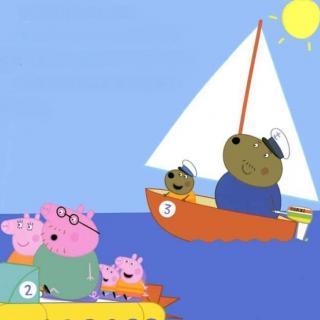 Aaron妈咪讲故事啦~小猪佩奇系列:佩奇去划船