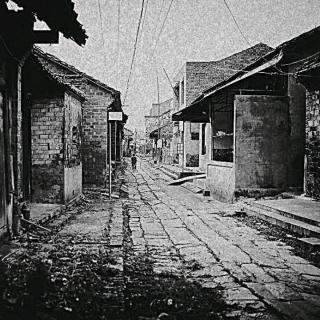 《家乡的那条青石小街》之七《傍晚的青石小街》
