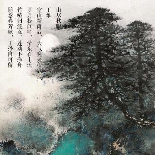 明月松间照,清泉石上流|在水