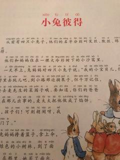 绘本《彼得兔的故事1⃣️小兔彼得》