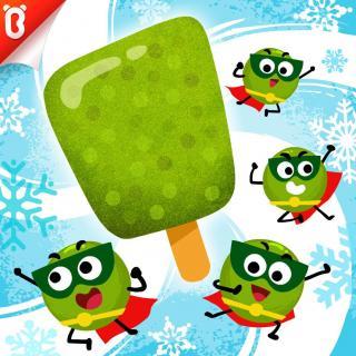 《好棒的绿豆超人》好吃的绿豆冰棒-蔬菜超人【宝宝巴士故事】
