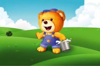 喜欢乱扔衣服的小熊