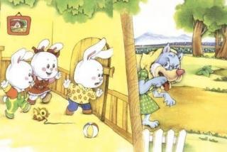 小兔子与大灰狼的故事