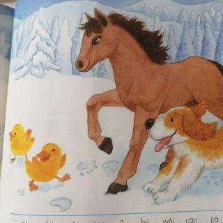 背诵雪地里的小画家