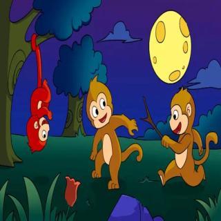 《猴子捞月》绘本故事