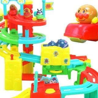 面包超人旋转高塔闯关轨道车玩具