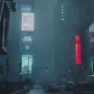 雨中漫步:雨声和雨打在雨伞上的声音