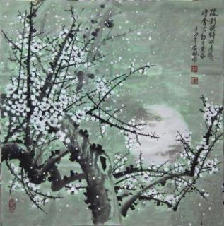 疏影横斜水清浅,暗香浮动月黄昏。