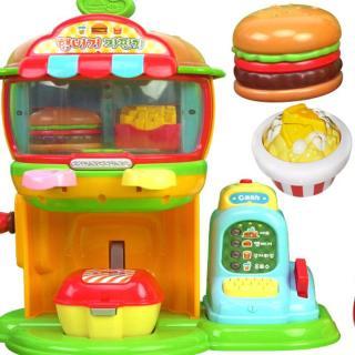 小豆子的汉堡售货机饮料机和爆米花机玩具
